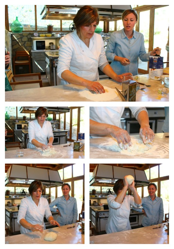 Collage Making Pizza Dough