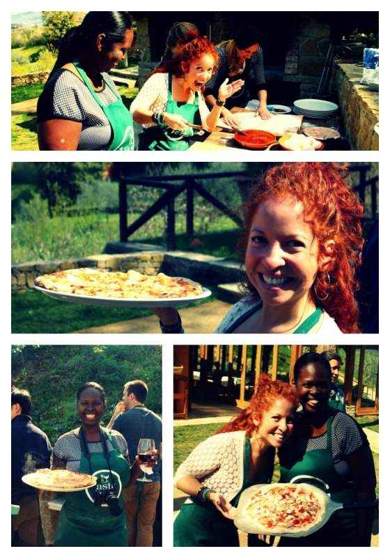 Collage we made pizza